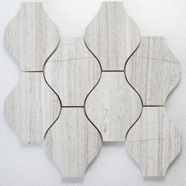 Lanterna Oyster P. Wall 12 x 12 Natural Stone Mosaic Tile in Gray by Seven Seas