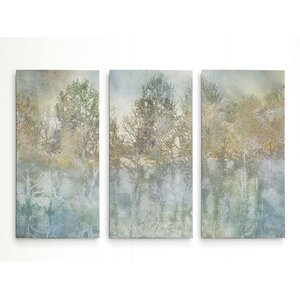 'River Reflection' Acrylic Painting Print Multi-Piece Image on Wrapped Canvas by Union Rustic