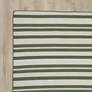 Read Reviews New Portland Hand-Loomed Olive Indoor/Outdoor Area Rug ByBreakwater Bay