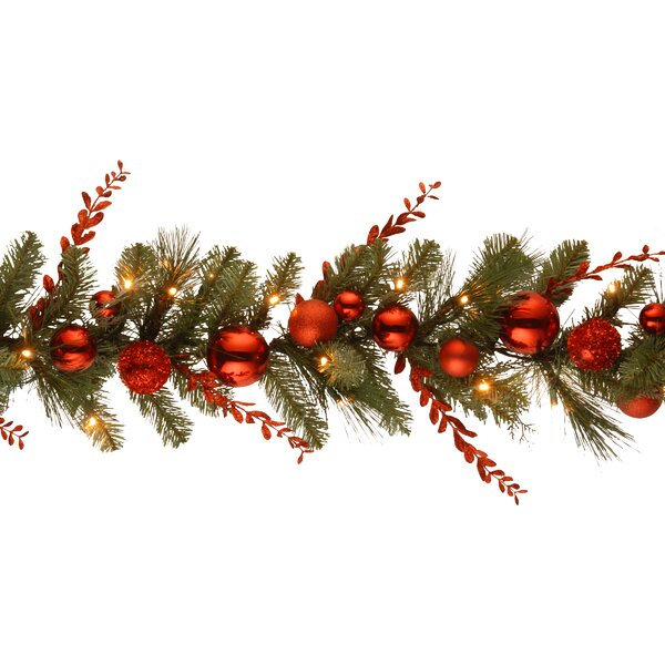 Decorative Pre-Lit Christmas Mixed Garland by Willa Arlo Interiors
