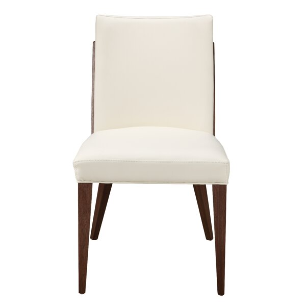 Bradburn Upholstered Upholstered Solid Back Side Chair in White (Set of 2) by Brayden Studio Brayden Studio