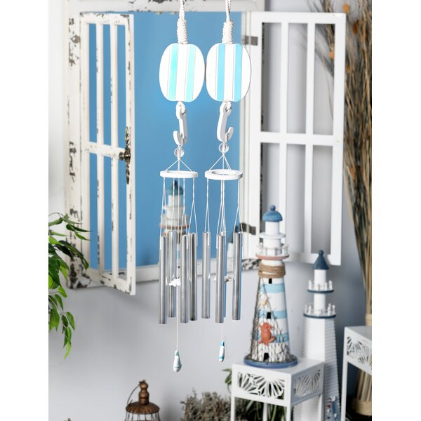 Coastal Sailboat and Buoy Wind Chime (Set of 2) by Cole & Grey