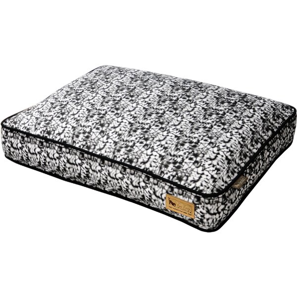 Backyard Frolic Rectangular Dog Pillow by P.L.A.Y.