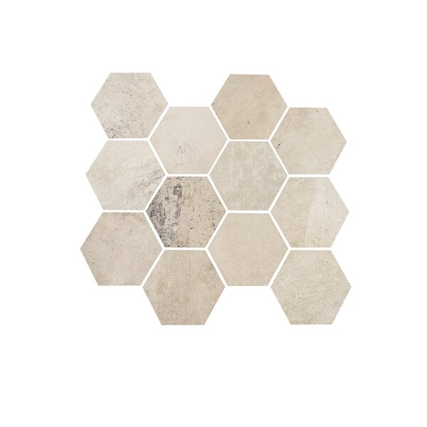3.25 x 3.25 Porcelain Mosaic Tile in White Cloud by Madrid Ceramics