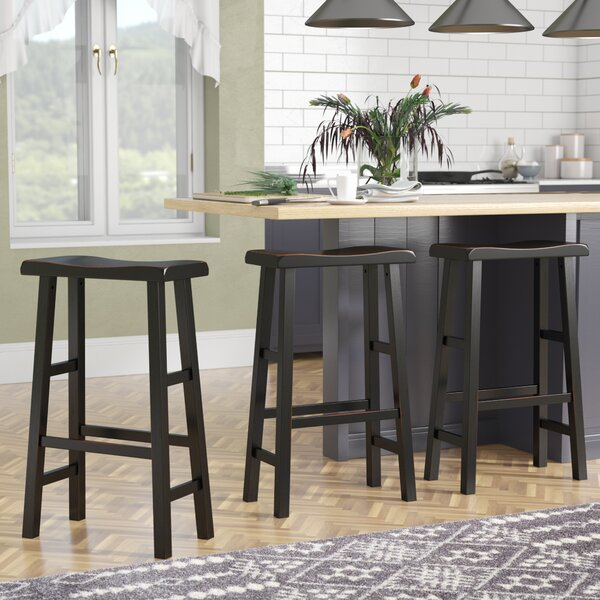 Mahaffey 29 Bar Stool (Set of 3) by Laurel Foundry Modern Farmhouse