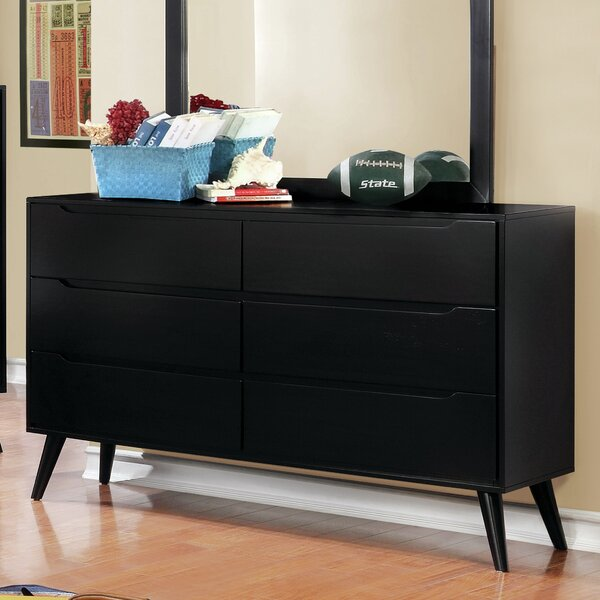 Ricardo 6 Drawer Double Dresser by Langley Street