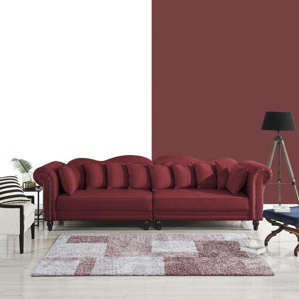 Beautiful Classy Johnstown Large Chesterfield Sofa by House of Hampton by House of Hampton