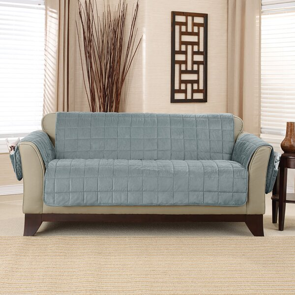 Deluxe Comfort Quilted Box Cushion Sofa Slipcover by Sure Fit