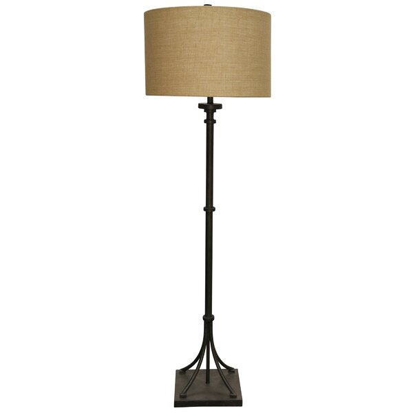 Leininger Industrial Transitional Iron Base 64 Floor Lamp by Red Barrel Studio
