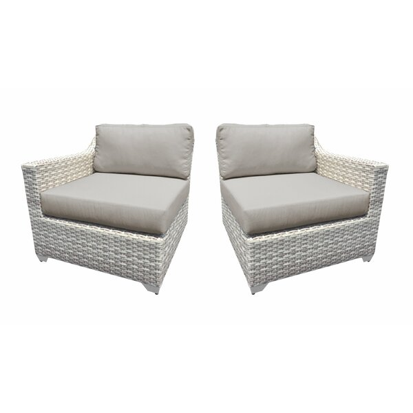 Genevieve 2 Piece Patio Chair Set with Cushions by Rosecliff Heights