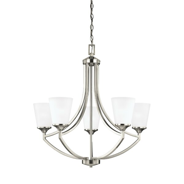 Elkton 5-Light Shaded Empire Chandelier by Darby Home Co