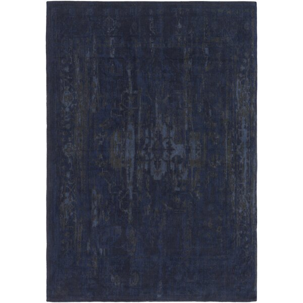 Mcintosh Hand Woven Navy/Gray Area Rug by World Menagerie
