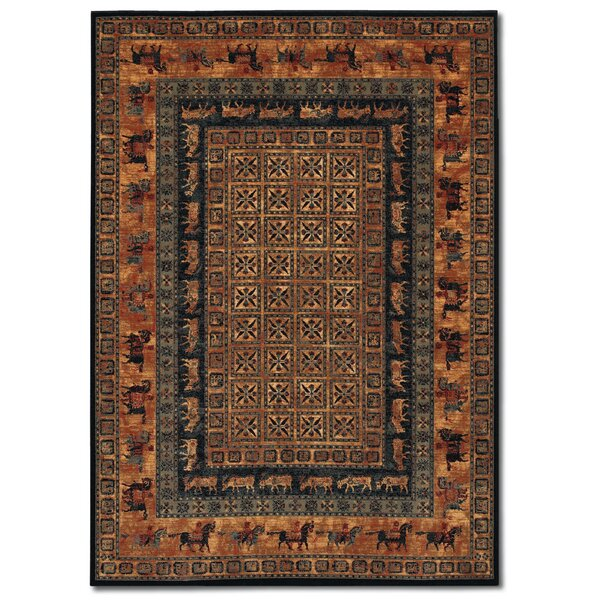 Faska Pazryk Burnished Rust Area Rug by World Menagerie
