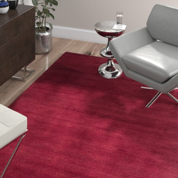 Bargo Red Area Rug by Wade Logan