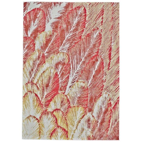 Veradzin Floral Red/Beige Area Rug
