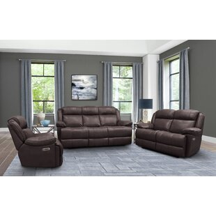 Eclipse Leather Reclining Configurable Living Room Set by Red Barrel Studio®