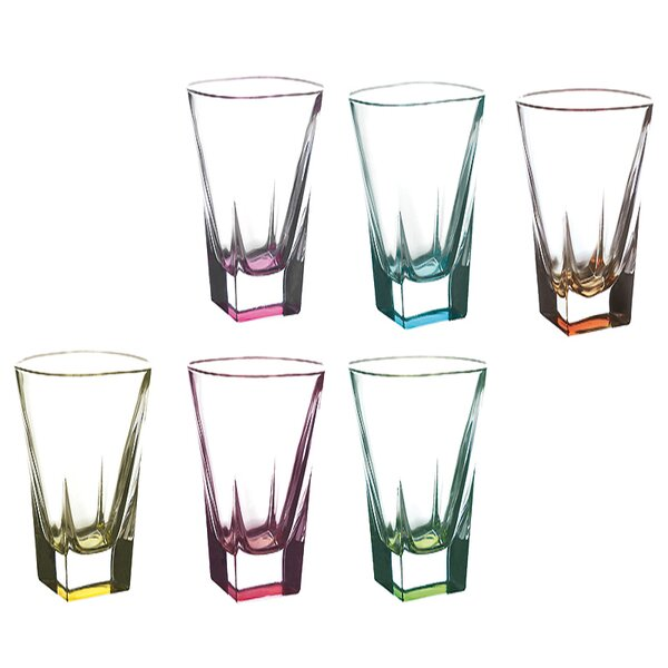 Logic Crystal 12 oz. Highball Glass (Set of 6) by Lorren Home Trends