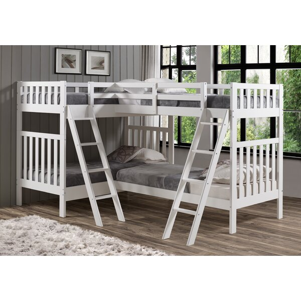 Reasor Twin L-Shaped Bunk Bed By Harriet Bee by Harriet Bee 2020 Sale