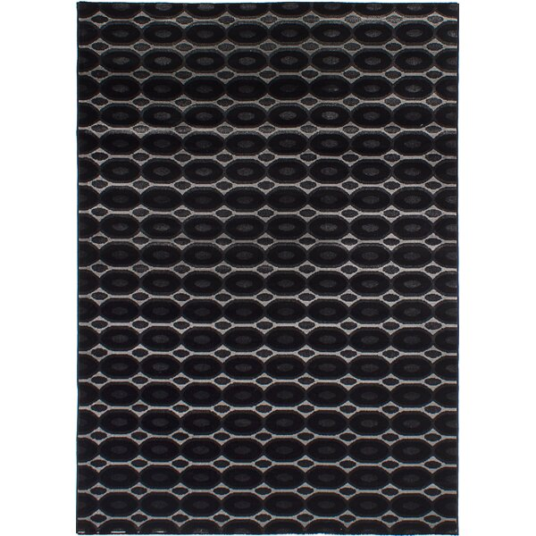 Griffie Black/Light Gray Area Rug by Ivy Bronx