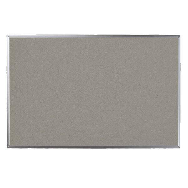 Narrow Aluminum Framed Cork Bulletin Board by EverWhite