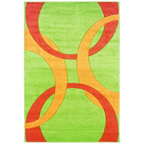 Manchester Hand-Woven Green/Orange Area Rug by Threadbind