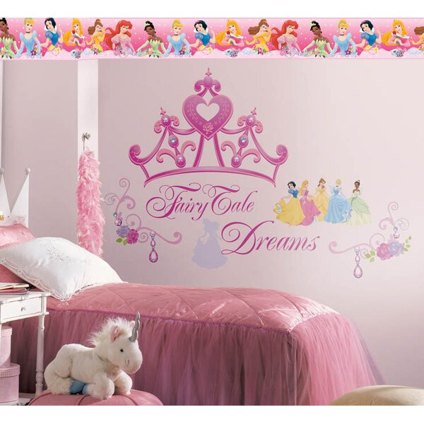 Disney Princess Crown Room Makeover Wall Decal by Wallhogs