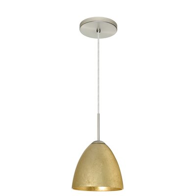 Vila 1 Light Single Bell Pendant Besa Lighting Finish Bronze Glass Shade Gold Foil Bulb Type Led Shefinds