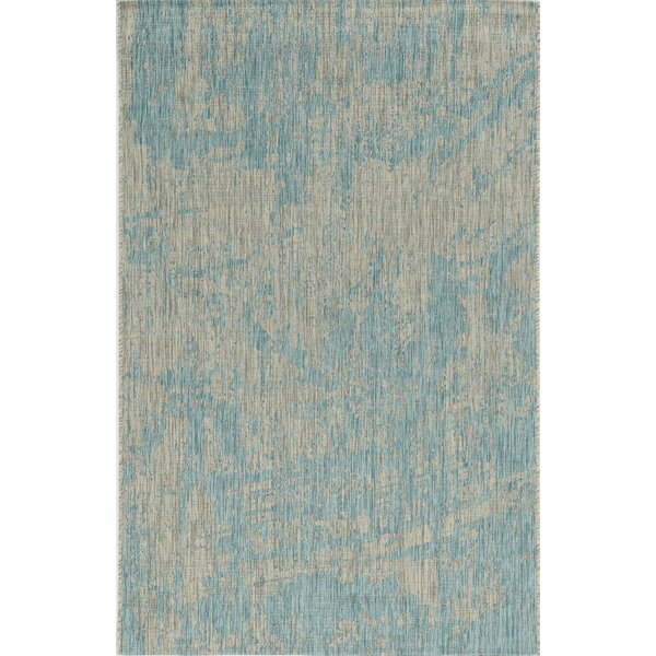 Harms Teal Indoor/Outdoor Area Rug by Bloomsbury Market