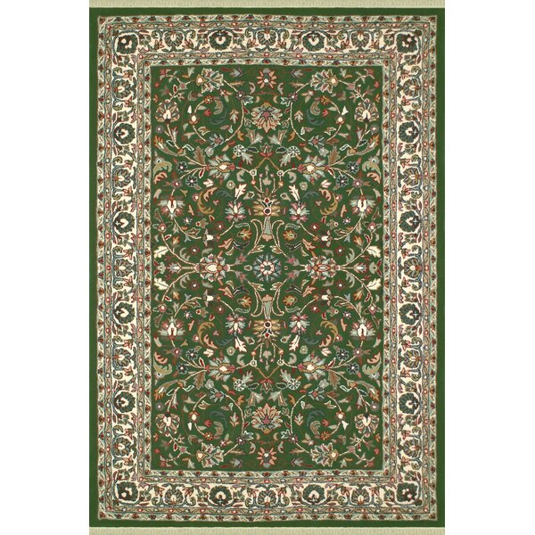 American Home Classic Kashan Emerald/Ivory Area Rug by American Home Rug Co.