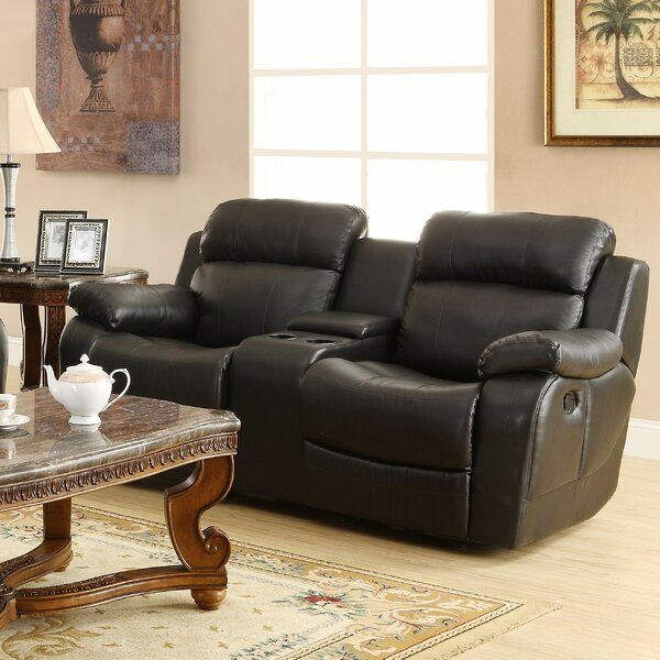 Get Valuable Ullery Glider Reclining Loveseat by Darby Home Co by Darby Home Co