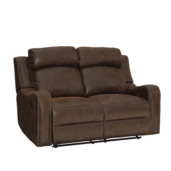 Candida Nailhead Trim Reclining Loveseat by Williston Forge