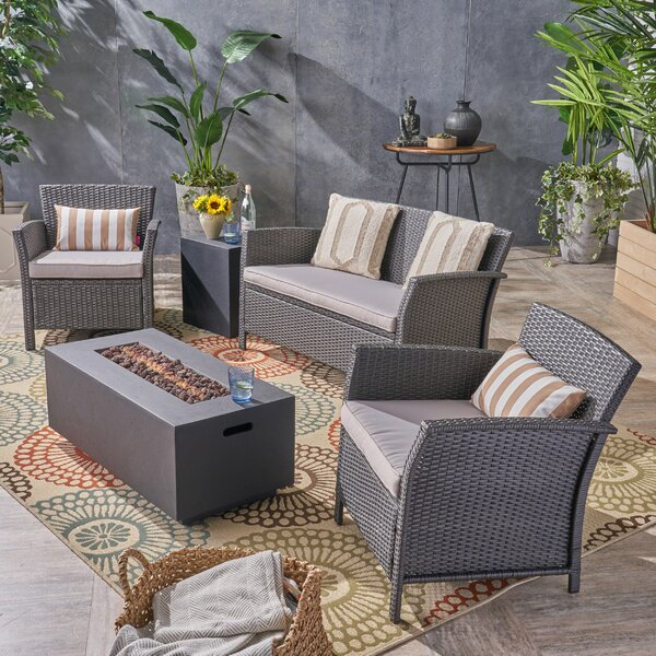 Meriam 5 Pieces Sofa Seating Group by Alcott Hill