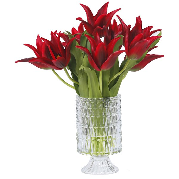 Tulip Centerpiece in Pineapple Glass by Darby Home Co