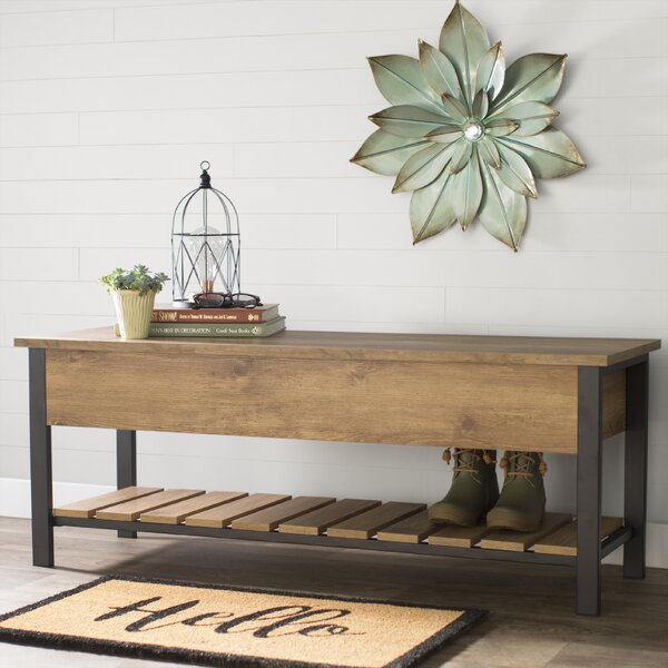 Savon Open-Top Wood Storage Bench by Gracie Oaks