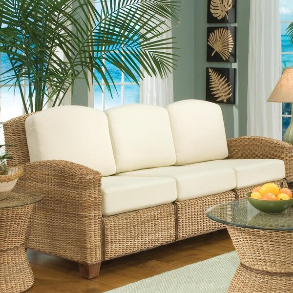 Hollier Patio Sofa with Cushions by Bay Isle Home
