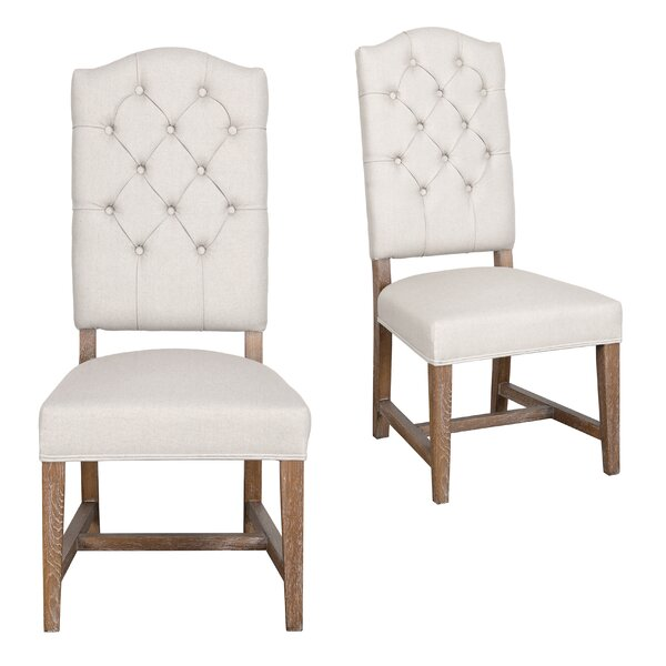 Nymphea Upholstered Dining Chair (Set of 2) by Lark Manor