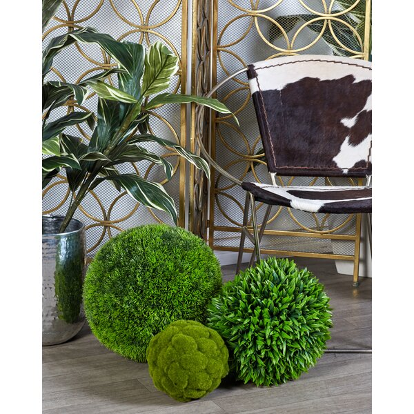 Faux Grass Boxwood Topiary By Laurel Foundry Modern Farmhouse.