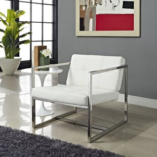 Kenacia Upholstered Vinyl Lounge Chair with Cushion by Orren Ellis