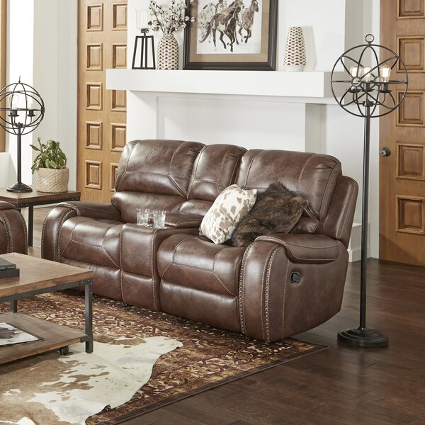 Clearance Stampley Reclining Loveseat by Millwood Pines by Millwood Pines