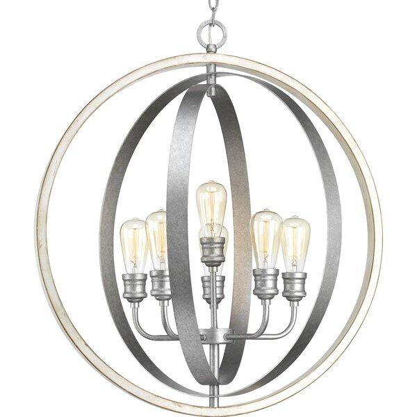 Mccurley 6 - Light Unique / Statement Globe Chandelier By Ebern Designs