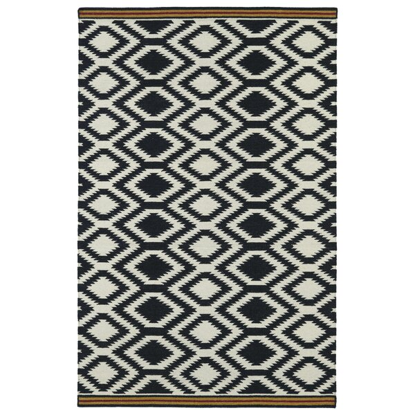 Marble Falls Black Geometric Area Rug by Wrought Studio