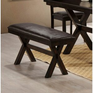 Padded Faux Leather Bench by LYKE Home