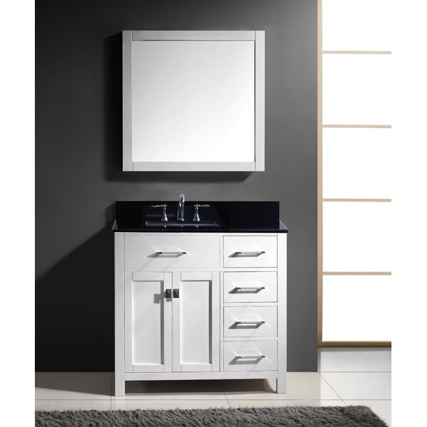 Savitsky 37 Single Bathroom Vanity Set with Mirror by Latitude Run
