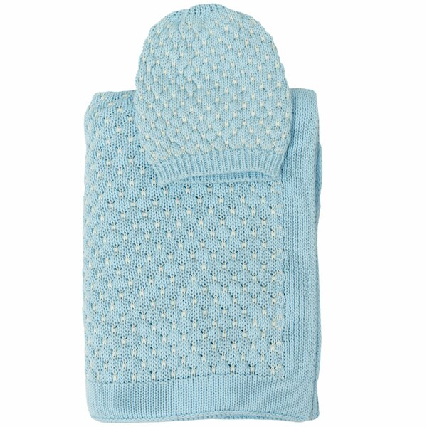 Snuggle 2 Piece Baby Blanket and Beanie Set by Darzzi