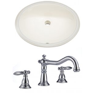 Comparison CUPC Ceramic Oval Undermount Bathroom Sink with Faucet and Overflow ByRoyal Purple Bath Kitchen