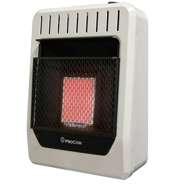 Heating Dual Fuel Ventless Plaque Natural Gas And Propane Infrared Wall Mounted Heater With Automatic Thermostat By ProCom