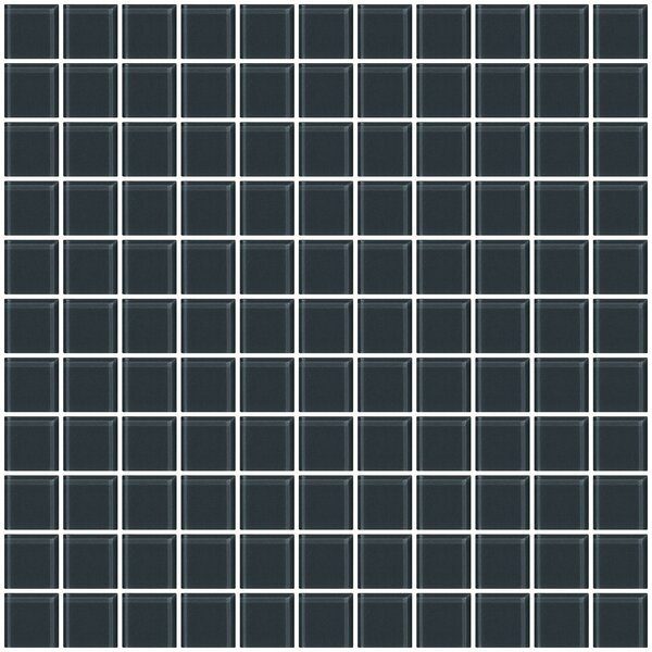 1 x 1 Glass Mosiac Tile in Dark Gray (Set of 2) by Susan Jablon