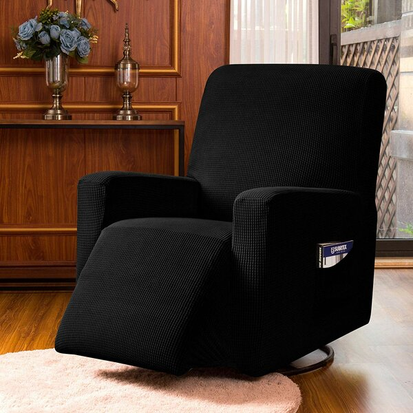 Review Jacquard Spandex Stretch Box Cushion Recliner Slipcover