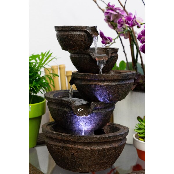 Resin Fountain with Light by Alpine