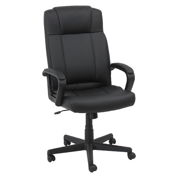 Mid-Back Leather Desk Chair by Oif